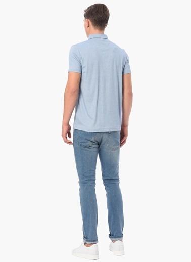 George Hogg Slim Fit Polo Yaka Tişört Mavi